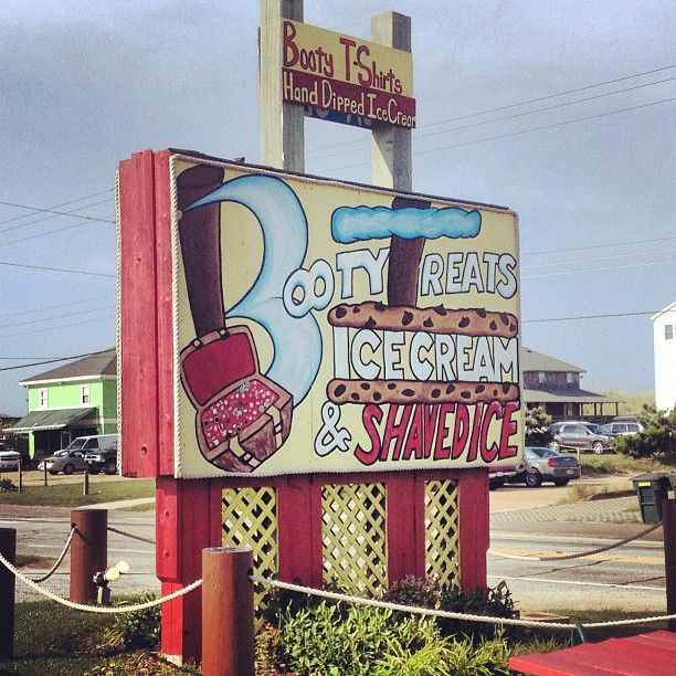 Booty Treats Ice Cream & Shaved Ice in Nags Head, NC #OuterBanks #OBX