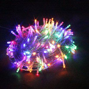 RPGT Noël Guirlande lumineuse LED , 500 Multicolore LEDs sur Câble Transparent pour Noël, Sapin, Maison, Fêtes, Mariages, Anniversaire,…