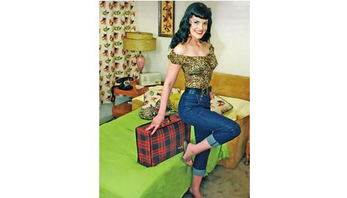 best 25 rockabilly jeans ideas on pinterest casual rockabilly fashion pin up outfits and pin. Black Bedroom Furniture Sets. Home Design Ideas