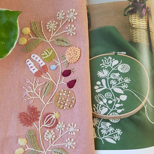 가을열매 자수..산책할때 휴대폰가방으로 만들려고 수를 놓았는데...만들려니 왠지 아깝다.^^;;#프랑스자수 #열매자수#가을자수#히구치유미코의자수12개월 #embroidery #handembroidery #stiching #needlework#frenchembroidery
