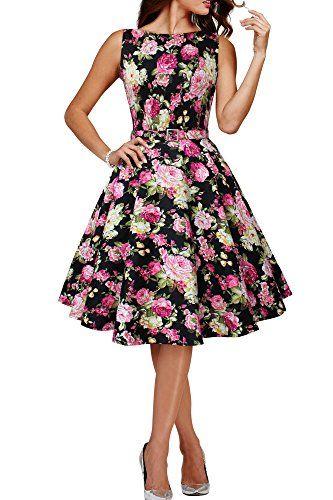 "Black Butterfly Abito vintage anni '50 ""Audrey"" Divinity (Nero - Rosa Floreale, IT 40 - XS) Black Butterfly Clothing http://www.amazon.it/dp/B00Y8STVSW/ref=cm_sw_r_pi_dp_Cbp1vb0JHBVKG"