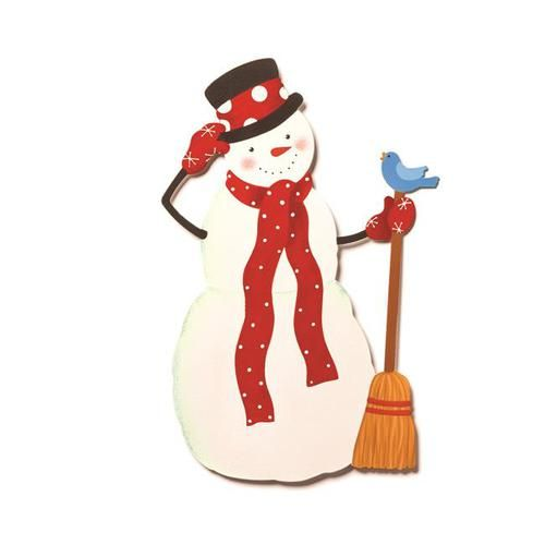 Embellish Your Story Snowman with Red Scarf Magnet