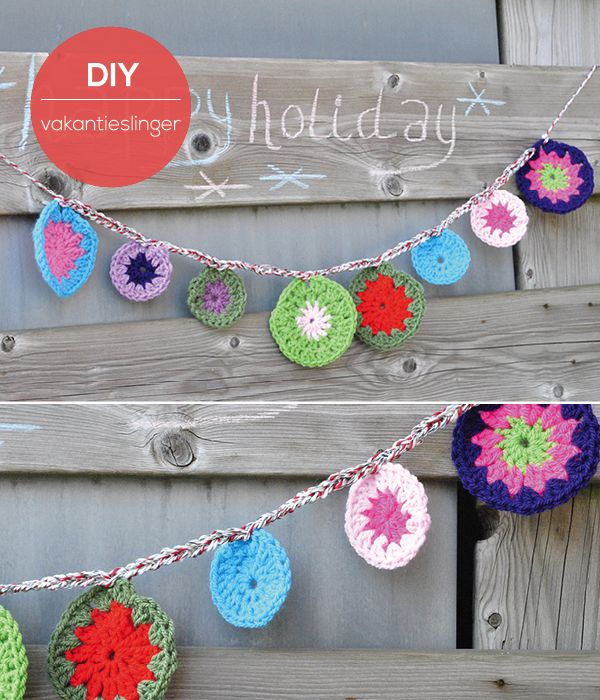Holiday bunting - Moodkids #crochet