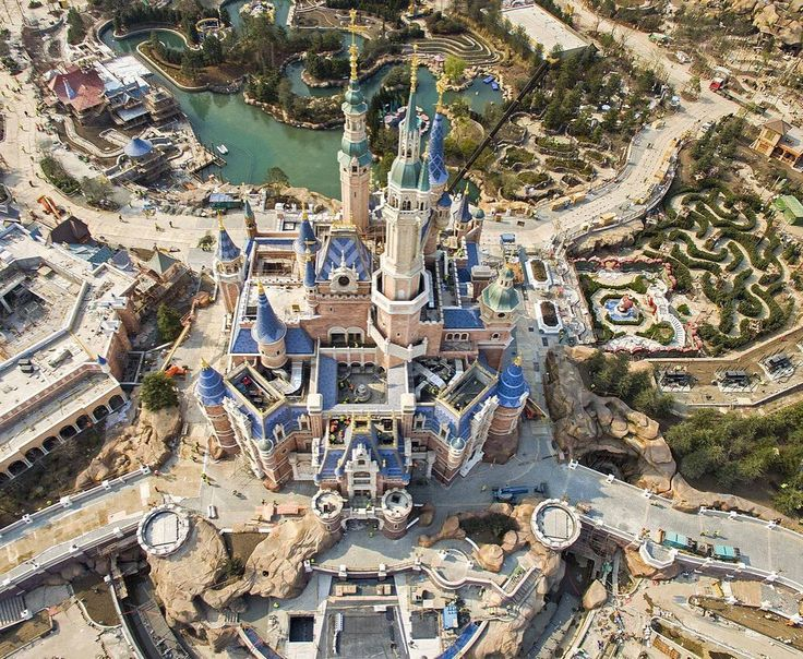 Asia is about to get a BIG dose of #Disney and were already packing our bags.  #Shanghai Disneyland is set to open on June 16. The park looks absolutely wondrous in this new aerial image which reveal that construction is pretty much complete : @Gettyimages by huffingtonpost