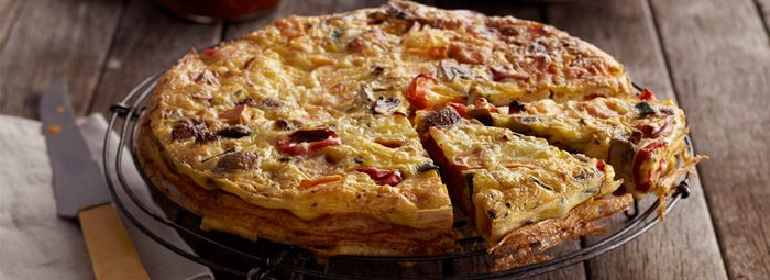 Roasted Vegetable & Cheese Frittata | Lasagna | Pinterest