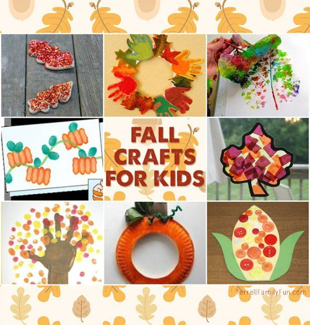 Fall crafts for kids.  #fall #autumn #crafts #diy #kids #children