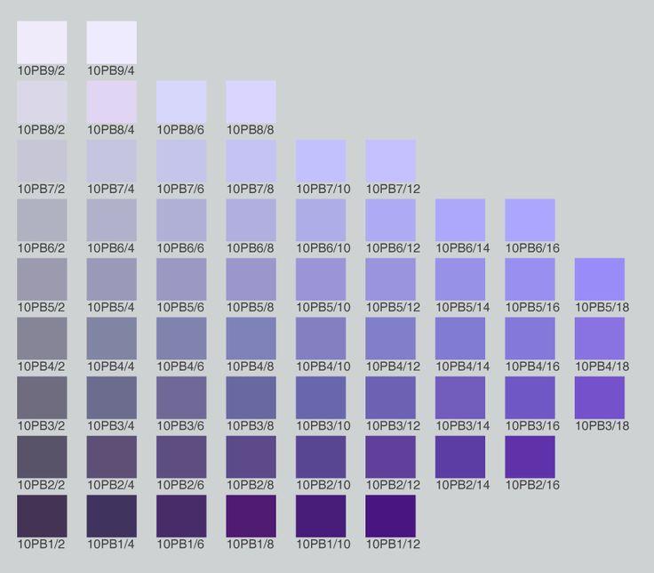 Munsell PB (purple-blue) 10 | Purples: Info. All Purples ...
