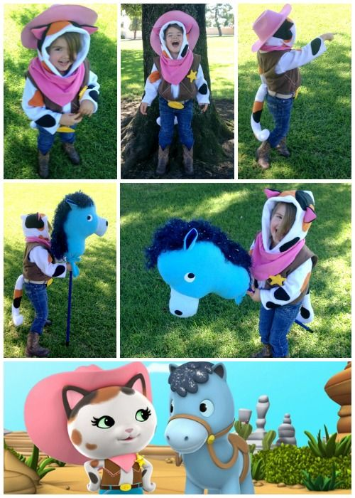 DIY Sheriff Callie Costume Collage - Felt With Love Designs