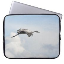 Common crane flying laptop computer sleeve