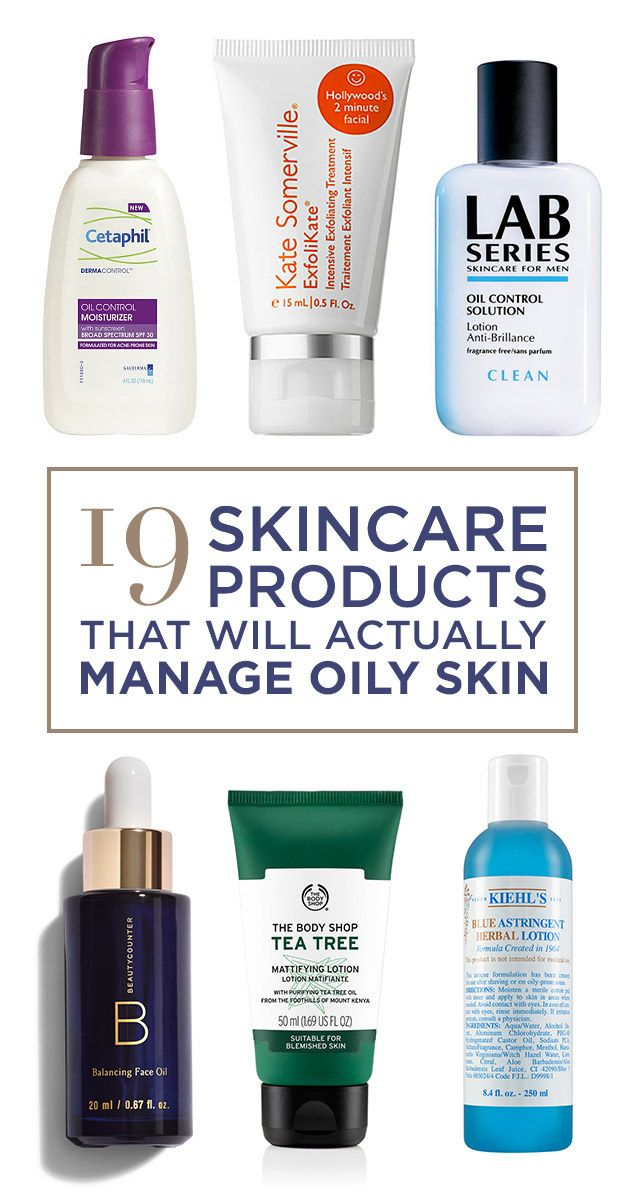 Facial products for men with oily skin