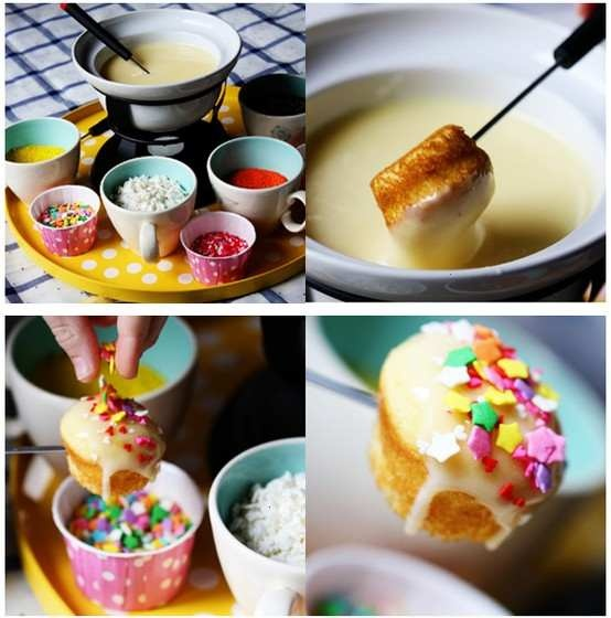 CUPCAKE FONDUE PARTY.  ABSOLUTELY LOVE!