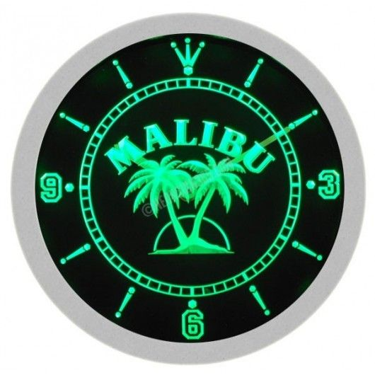 Buy your Malibu Rum Neon Sign Wall Clock at Low Price in our Online Store - NeonSign365.com