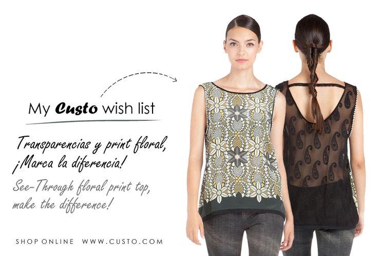 ¡Marca la diferencia!  Make the difference! www.custo.com