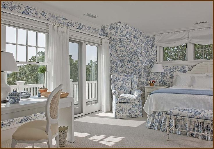 Blue And White Toile Bedroom: Matthew Donovan Interiors Boston, MA Blue Toile Bedroom