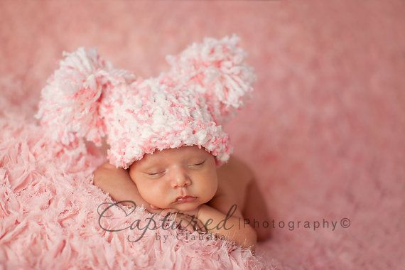 Baby Girl Hat CUTE Newborn Baby Boy or Girl by JerribeccaHats2, $19.99