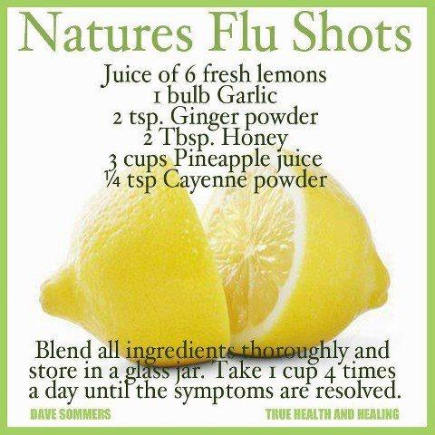 Natural Flu Drink