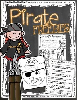Pirate FREEBIES! Would you rather, what's your pirate name?  Talk Like a Pirate…