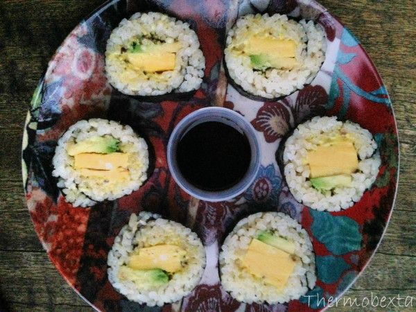 sushi egg & avocado