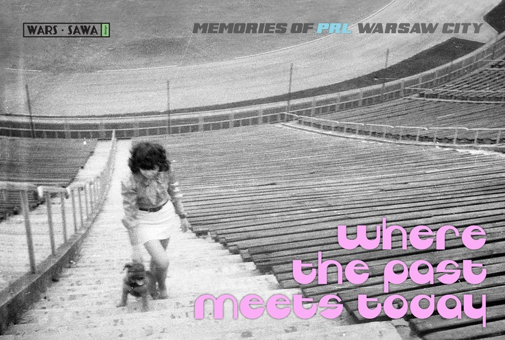 Where the past meets today, postcard by Wars Sawa Design, Warszawa, Warsaw, Memories of PRL.