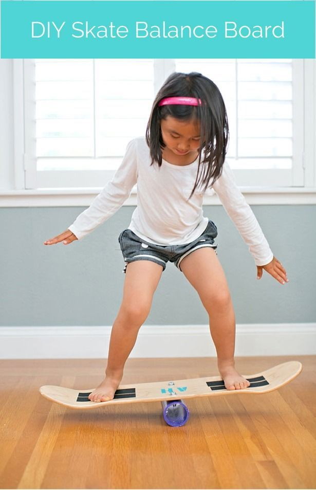 Make a balance board out of a skateboard deck and a few easy parts. This is so much fun for kids and strong enough for adults to use too!