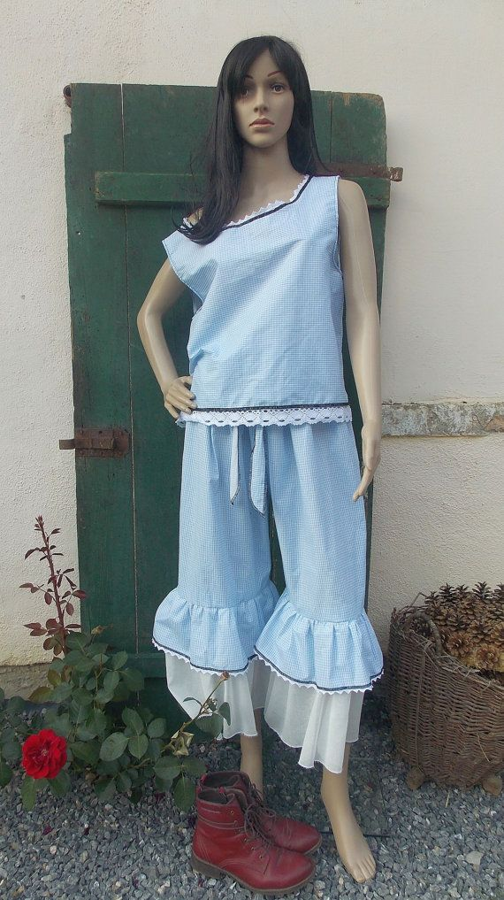 Trousers and tunic ruffle country style by AtelierJoanVilem