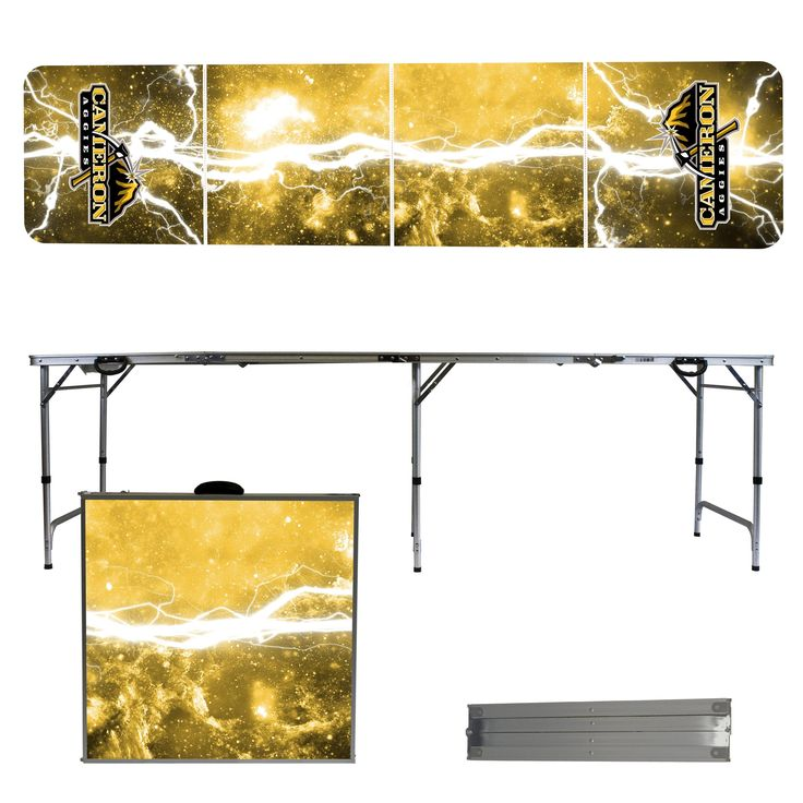 Cameron University Aggies 8 Foot Portable Tailgate and Pong Table