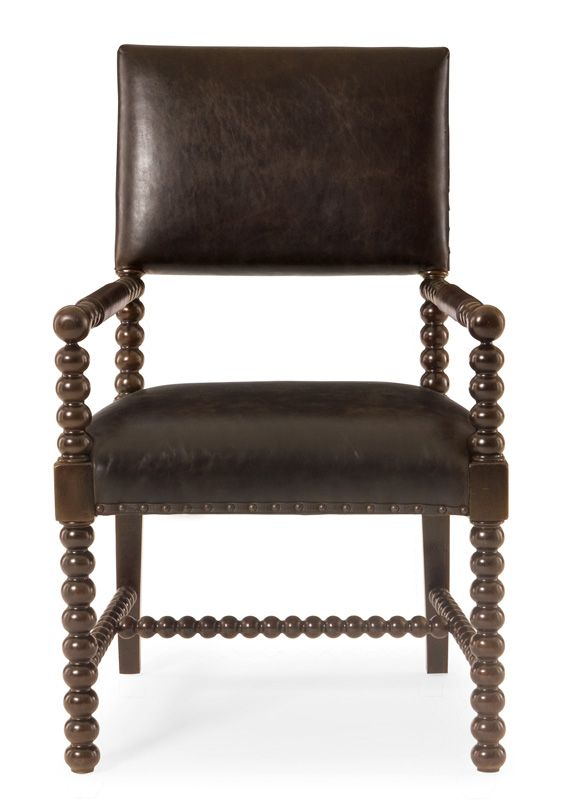 Leather dining chairs ebony