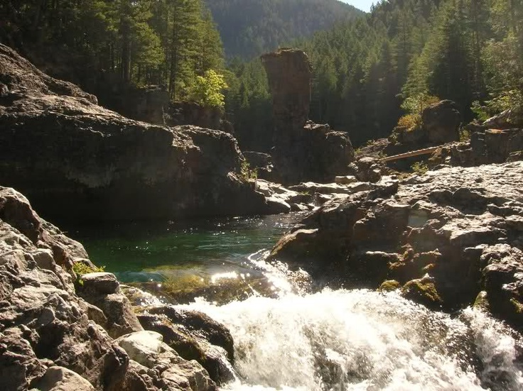 Swimming places on Santiam river
