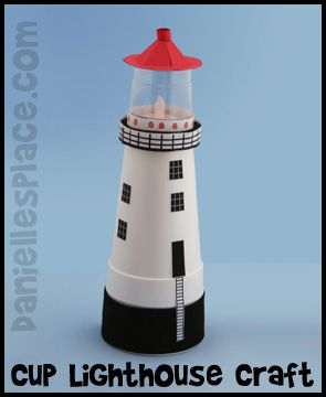 If you are using an ocean theme for summer, these lighthouse projects made out of cups are great idea to use with a nautical ocean theme.