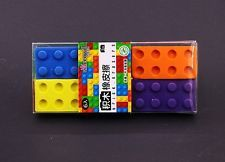 Pack of 6 Blocks Eraser Assemblable Toy Erasers Toys Gifts