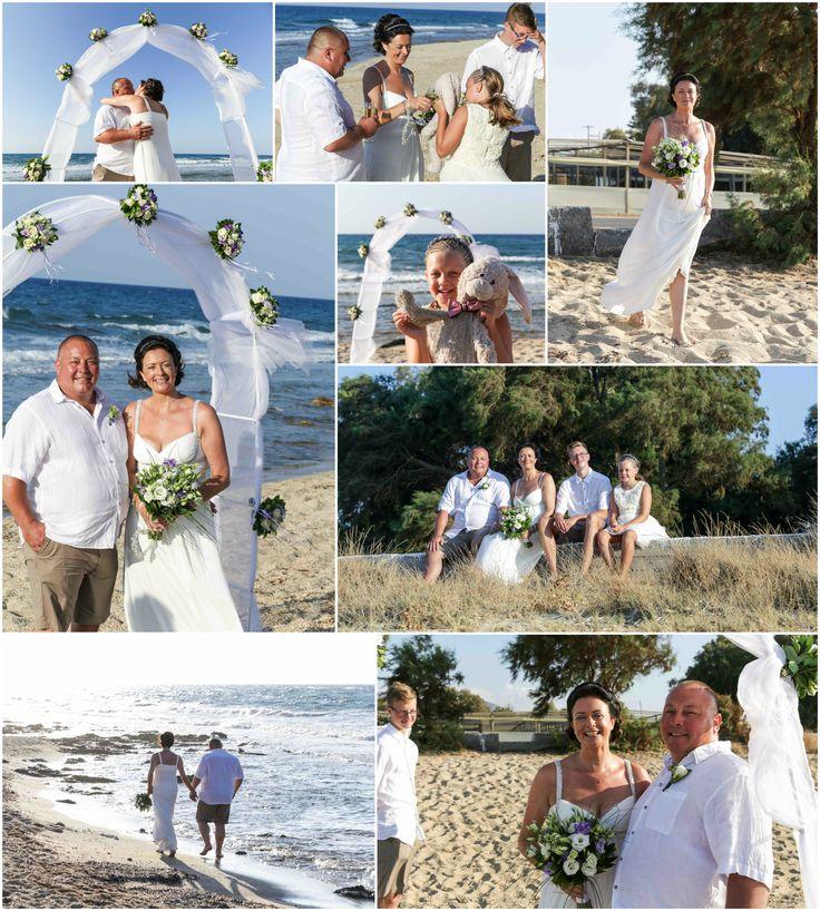 Hersonissos beach wedding in Crete