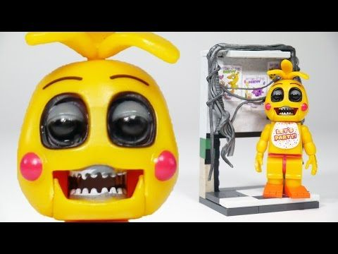 FNAF Toy Chica with Right Air Vent | McFarlane Toys LEGO compatible FNAF set review - YouTube