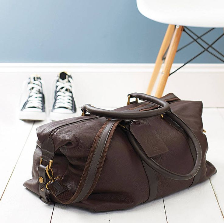 anthony handmade leather weekend holdall by nv london calcutta   notonthehighstreet.com