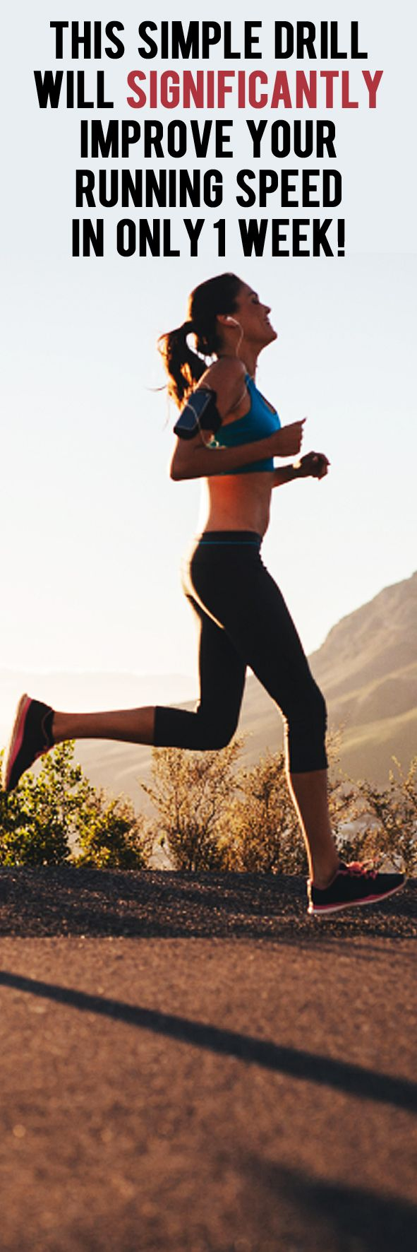 This simple drill will significantly improve your running speed in only one week! #runningtips #runningadvice #runfaster #improverunning #running