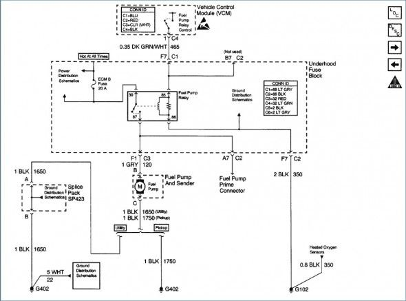 2000 Chevy S10 Fuel Pump Wiring Diagram Di 2020