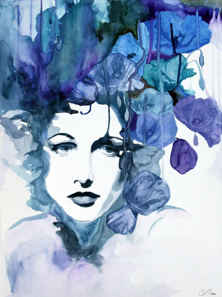 Gravity by ~defectivebarbie  Traditional Art / Paintings / Portraits