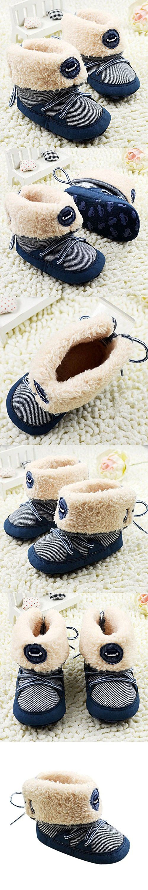 Norbi Winter Baby Warm Stripes Boots Lace Up Booties High Boots