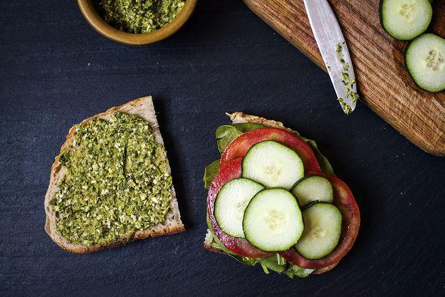 Fava Beans And Pumpkin Seed Pesto Recipe — Dishmaps