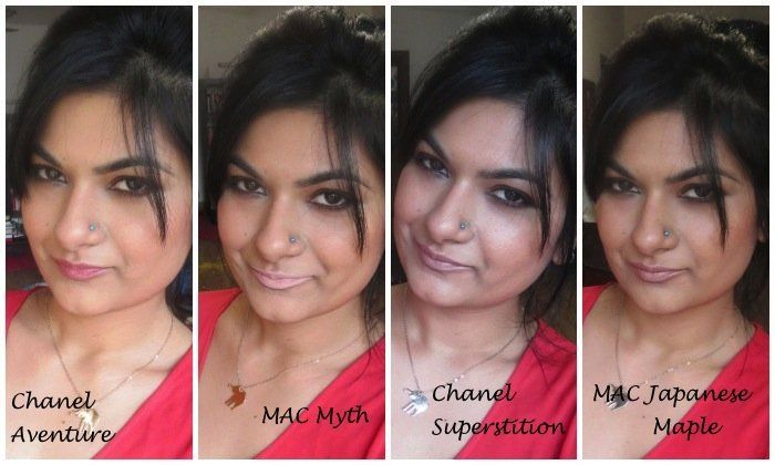 #chanel #aventure #superstition #mac #myth #japanese #maple #lipstick #review #price and details on the blog #lipswatches #FOTD
