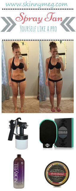 Spray tanning yourself like a pro.