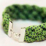 braceletBracelets Tutorials, Polka Dots, Gift Ideas, Fabrics Scrap, Diy Tutorials, Braids Bracelets, Diy Bracelets, Fabrics Bracelets, Sewing Machine