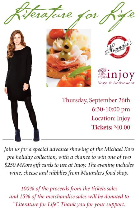 SUPPORT LITERATURE FOR LIFE IN STYLE! SEPTEMBER 13TH, 2013