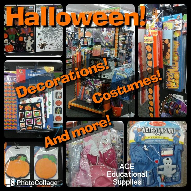 Are your little ones dressing up this year for Halloween? Decorating? We have it here for school and home.