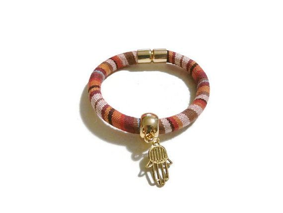 Hamsa Hand Bracelet Bohemian Bracelet by MakeTheChangeJewelry