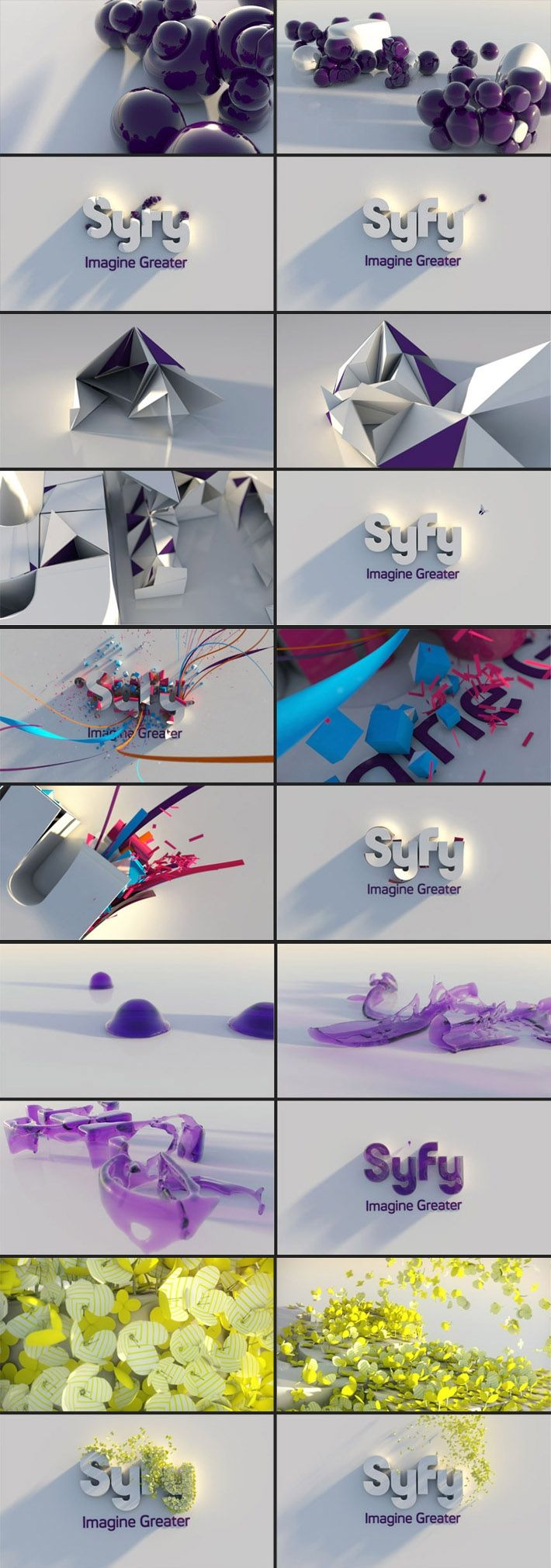 Animations created to enliven the current SyFy logotype.