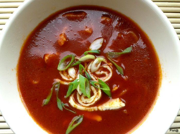 Chinese tomatensoep, heerlijk ... smaakt zoals bij de Chinees!