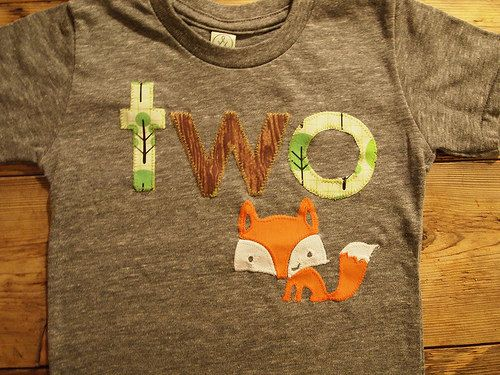 Fox shirt woodland themed birthday shirt by lilthreadzclothing, $36.00