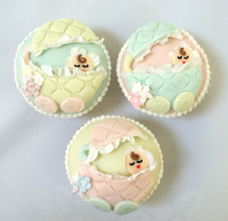 sweet baby shower cupcakes
