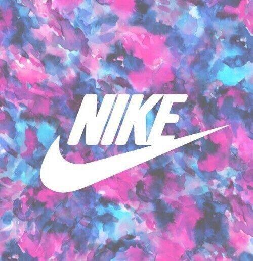 fond, bleu, coloré, Nike, rose, violet, tapisserie