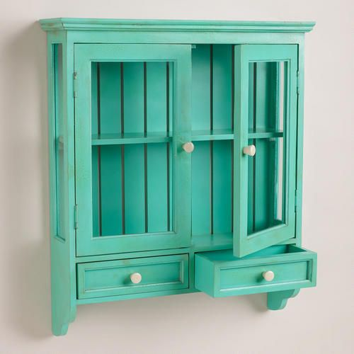 Aqua Maggie Wall Cabinet | World Market